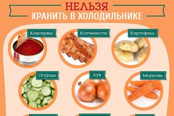 Какие продукты нежелательно хранить в холодильнике